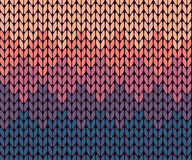 Seamless gradient knitted pattern Royalty Free Stock Image