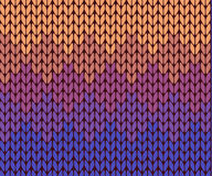 Seamless gradient knitting pattern Royalty Free Stock Images