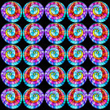 Seamless grafiskt mönstrar kulör krullning. Royaltyfria Bilder