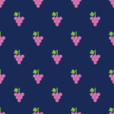 Seamless Grape Pattern Background Stock Photos