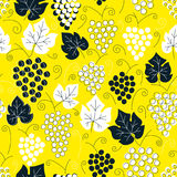 Seamless grapes pattern. Fruit vector background. Colorful background with juicy fruit. Natural and healthy grape food Stock Photos