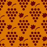Seamless Grapes Pattern Stock Images