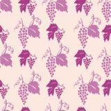 Seamless grapes pattern Stock Photo