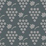 Seamless Grapes Pattern Stock Image