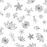 Seamless Graphic Floral Pattern Stock Photos