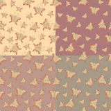 Seamless graphic pattern of butterflies Royalty Free Stock Images