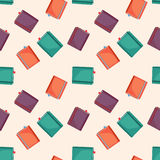 Seamless Graphic Pattern Design of Colored Books Stock Photos