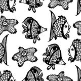 Seamless graphic pattern with fish. Vector illustration Royalty Free Stock Photography