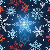 Seamless graphic pattern with snowflakes Royalty Free Stock Photos