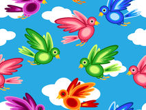 Seamless graphic shape birds Royalty Free Stock Images