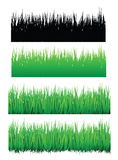 Seamless grass. Image and silhouette,  format is available Royalty Free Stock Photo
