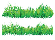 Seamless grass borders Stock Photos