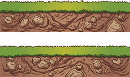 Seamless grass and dirt Stock Images