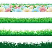 Seamless grass elements Royalty Free Stock Photo