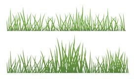 Seamless Grass patterns. Grass isolated on white background, illustration Stock Images