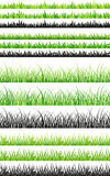 Seamless grass set Stock Photography