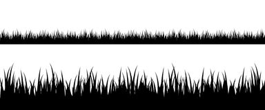 Seamless grass silhouette Royalty Free Stock Photography
