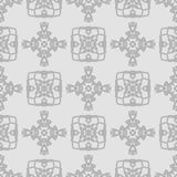 Seamless gray abstract pattern in ethnic style. Vector design Stock Photo