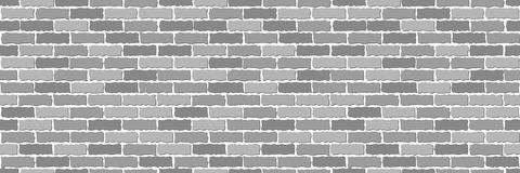 Seamless of gray brick. Wall. Vector illustration Royalty Free Stock Photos