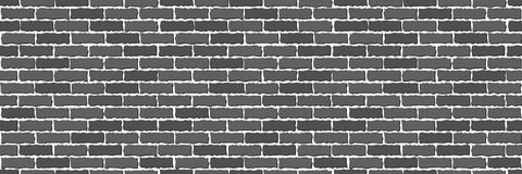 Seamless of gray brick. Wall. Vector illustration Royalty Free Stock Image