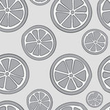 Seamless gray citruses Royalty Free Stock Photos