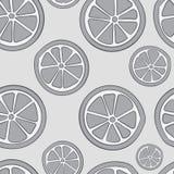 Seamless gray citruses Royalty Free Stock Photos