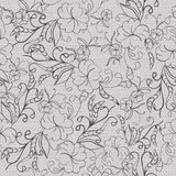 Seamless gray floral monochrome pattern. Stock Photography