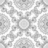 Seamless gray floral pattern Stock Photo