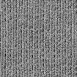 Seamless gray knitting texture. Stock Images