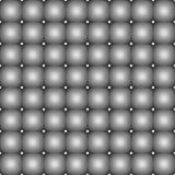 Seamless gray leather upholstery texture with metal buttons  Stock Images