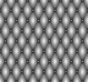 Seamless gray leather upholstery texture with metal buttons  Stock Image
