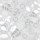 Seamless gray nature pattern. Illustration Royalty Free Stock Images