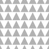 Seamless Gray Scale Abstract Modern Pattern from Triangles Royalty Free Stock Images