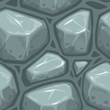 Seamless gray stone texture. Tileable square background Stock Photo