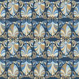 Seamless greek Art Nouveau pattern Royalty Free Stock Image