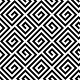 Seamless greek fret key pattern in black and white Stock Photos