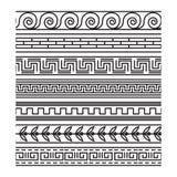 Seamless greek pattern set Stock Photography