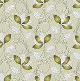 Seamless green artistic leaves wallpaper design. For textile fabrics and cloth royalty free illustration