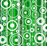 Seamless green background with circles Stock Image