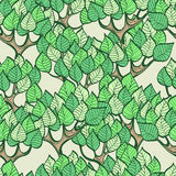Seamless green background with forest Royalty Free Stock Image