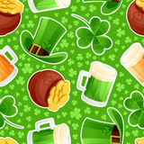 Seamless green background St. Patricks Day Royalty Free Stock Photo