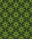 Seamless green background with star patterns Stock Photo