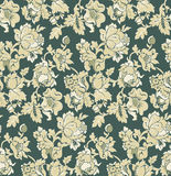 Seamless green baroque venetian wallpaper Stock Photography