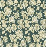 Seamless green baroque venetian wallpaper stock photography