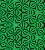 Seamless Green and Black Spiral Pattern. Geometric Abstract Background. Suitable for textile, fabric, packaging and web design. Stock Images