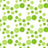 Seamless green circle peas pattern. Stock Images