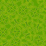 Seamless, Green Clover Stock Photo