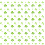 Seamless Green clover pattern Stock Photo