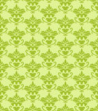 Seamless green damask background Royalty Free Stock Photo
