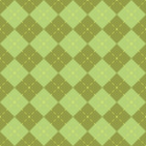 Seamless green diamond pattern Stock Photos